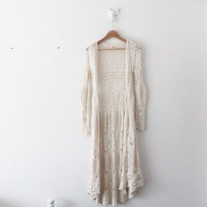 💕 Mossimo Crochet Lace Maxi Cardigan